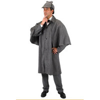 Sherlock Holmes Grey Herringbone Inverness Jacket