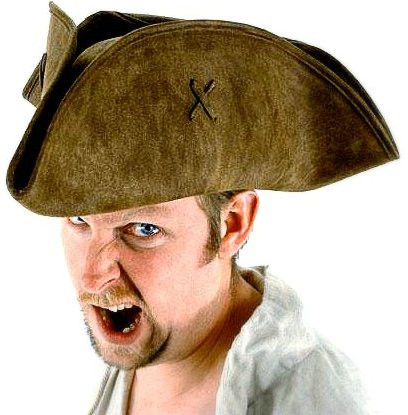 Best Pirate Hat in brown