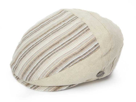 Linen Ivy Cap, striped