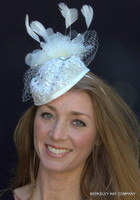 Ivory Bridal Pillbox Fascinator