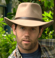 Wool Felt Outback Hat in Tan