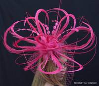 Pink Feather Winner's Circle Fascinator