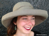 Scala Women's Cotton Sun Hat, Inner Drawstring