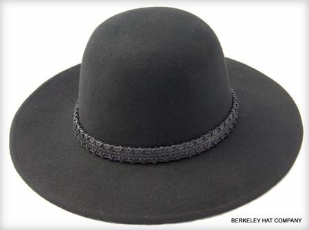 Tall Crown Wool Felt Hat in Black - Berkeley Hat Company 9255af9fffd