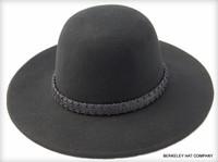 Tall Crown Wool Felt Hat in Black