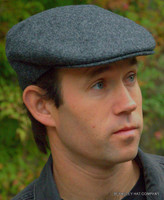 Irish Driving Cap, Charcoal Grey Heather (IR65)