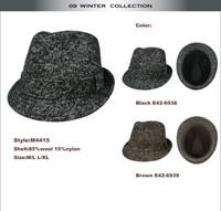Wool Blend Fedora Hat