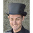 BLack Leather Coachman Top Hat