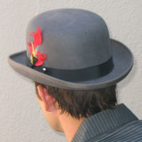 Wool Felt Derby: Grey
