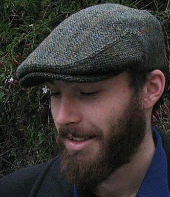 HARRIS TWEED IVY CAP, TRADITIONAL DARK GREEN