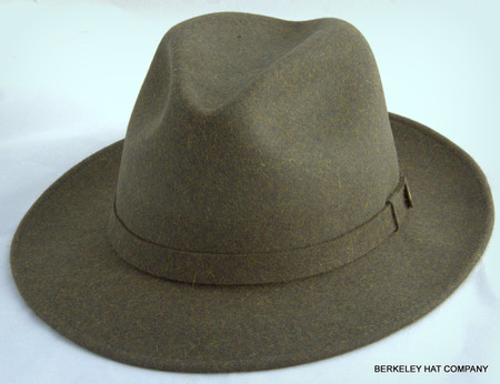 6eb3cfbe2 Stetson Leighton Olive Heather Fur Felt Hat