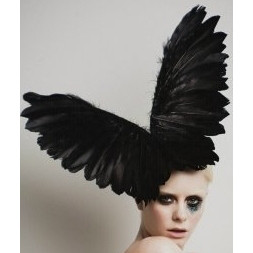 Electra, Black Wings Fascinator Hat by Arturo Rios, as worn by Lady Gaga