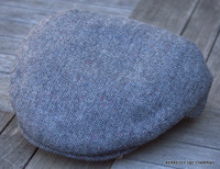 Irish Grey Herringbone Lambswool Flat Cap (IR83)