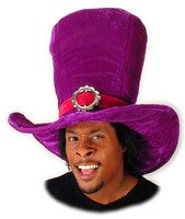 Giant Alice Purple Mad Hatter Top Hat