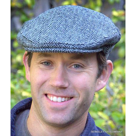 Harris Tweed Ivy Cap, Grey Herringbone
