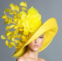 Sunshine, Yellow Wide Brim Hat by Arturo Rios.