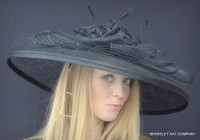 Spectacular Sinamay Straw Kentucky Derby Hat in Black.