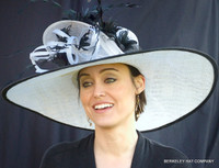 Day at the Races Hat in Black and White.