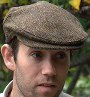 Irish Herringbone Cap Olive/Brown