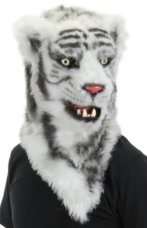 White tiger mouth mover mask