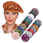 SEQUIN BERET color options