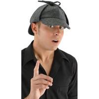 Sherlock Holmes style deerstalker hat