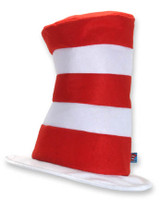 Stovepipe cat in the hat striped top hat