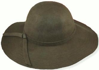 Womens Wide Brim Felt Hat