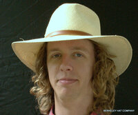 Natural Wide Brim Panama Hat - The Aussie