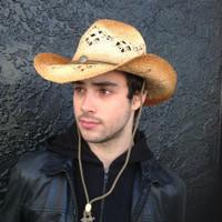 Macrame Straw Western Hat