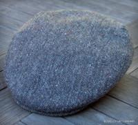 Irish Donegal Salt and Pepper Cap, Wool Tweed