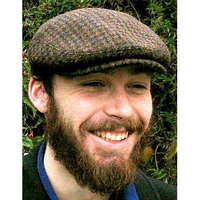 HARRIS TWEED IVY FLAT CAP, BROWN HOUNDSTOOTH