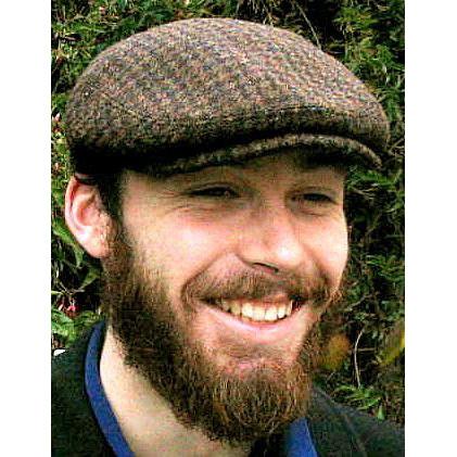 HARRIS TWEED IVY FLAT CAP, BROWN HOUNDSTOOTH