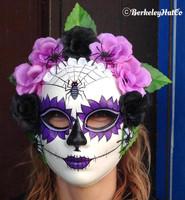 Dia De Los Muertos Mask Madam Muerto in purple