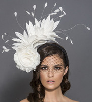 Lulu, Black and White Headband Fascinator with Veil by Arturo Rios