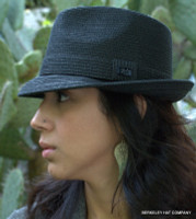 Straw Fedora Hat, The Billy by Bailey turned down brim