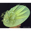 Art Deco Derby Fascinator hat in lime, back view
