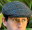 Harris Tweed Green Windowpane Ivy Cap