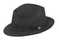 Kingsley Milan Fedora in Black by Biltmore
