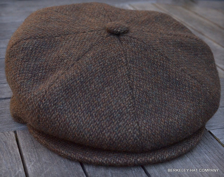 a98da0707 Irish Newsboy Cap, Brown Wool Tweed (IR74)