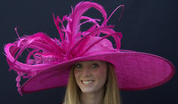 Winner's Circle Derby Hat in Fuchsia - Free US Express Shipping