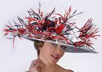 Patriotic Red, White and Blue Kentucky Derby Hat
