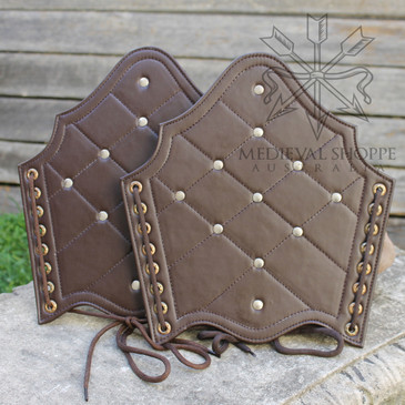 Brown Studded Vambraces