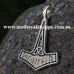 Runic Mjöllnir - Viking Thor Pendant