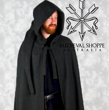 Men's Hooded Cloak (Black)