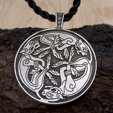 Celtic Hunting Dogs Pendant (Book of Kells)