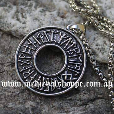 Norse Rune Circle Medallion
