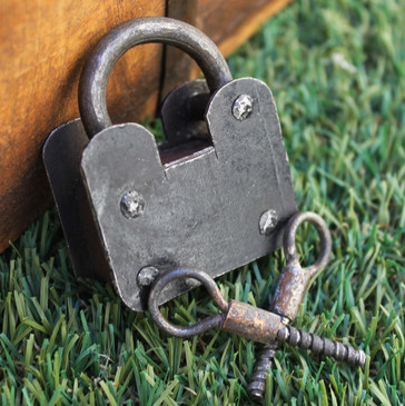 Twist Lock Padlock - 15th Century Reproduction (Medium)