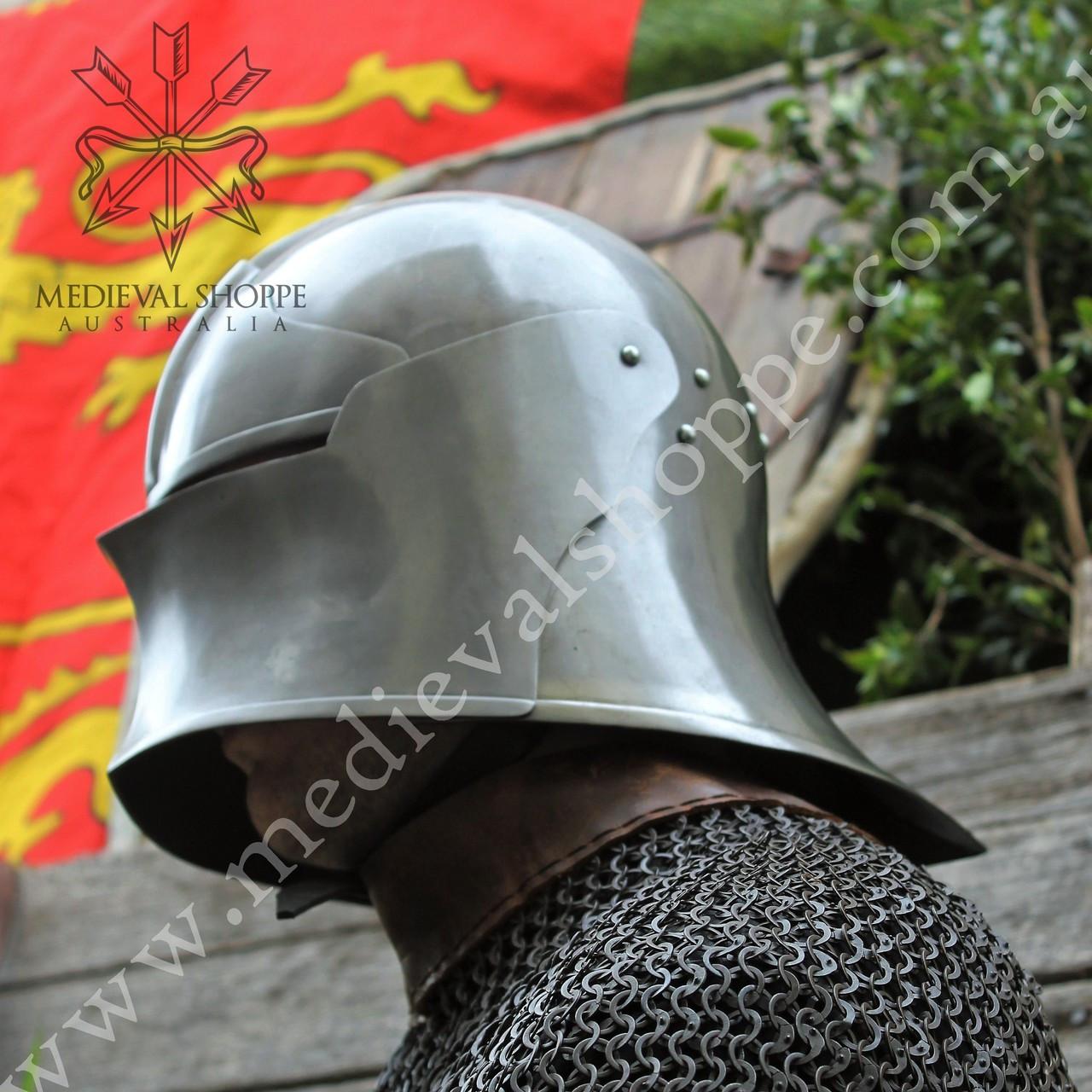 Schallern or Salade Late Medieval Helmet - 18g