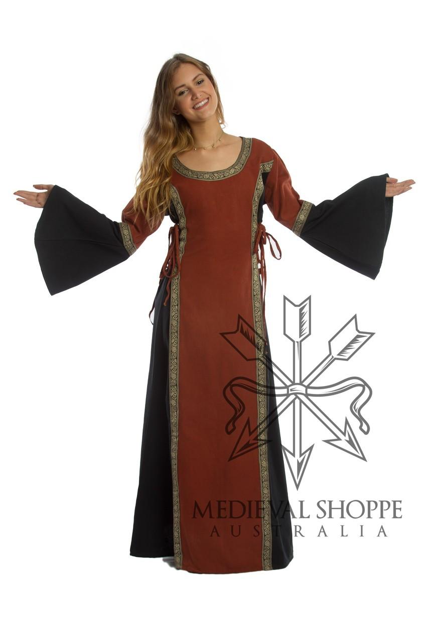 Red & Black Medieval Dress